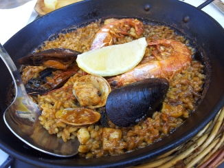 Paella at Cafe Delfin