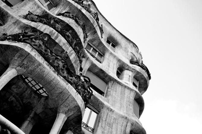 La Pedrera - Casa Milà by the Catalan architect Antoni Gaudí